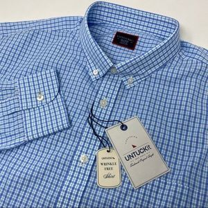 UNTUCKit Adige Plaid Long Sleeve Button Down Shirt